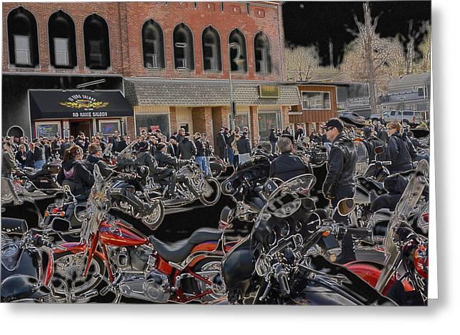 Prescott Digital Greeting Cards - No Name Saloon Flood Run 2015 Greeting Card by Darrell P Delahousaye