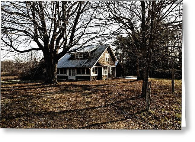 Abandoned Houses Greeting Cards - No One Is Home Greeting Card by Ross Powell