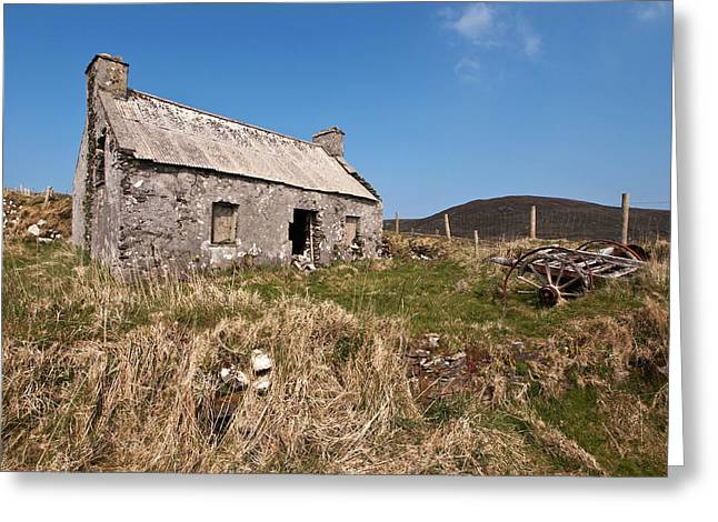 Tin Roof Greeting Cards - No One Lives Here Anymore Greeting Card by John Perriment