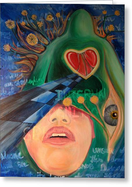 Cognition Paintings Greeting Cards - No One Will See This But Its Love Greeting Card by Brian Marcotte