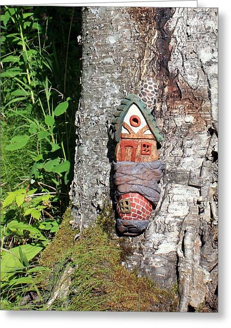 Fairies Sculptures Greeting Cards - No Place like Gnome Home I Greeting Card by Eric Knowlton