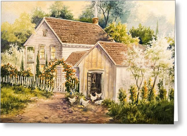 Old Home Place Paintings Greeting Cards - No Place Like Home Greeting Card by Kirby McCarley