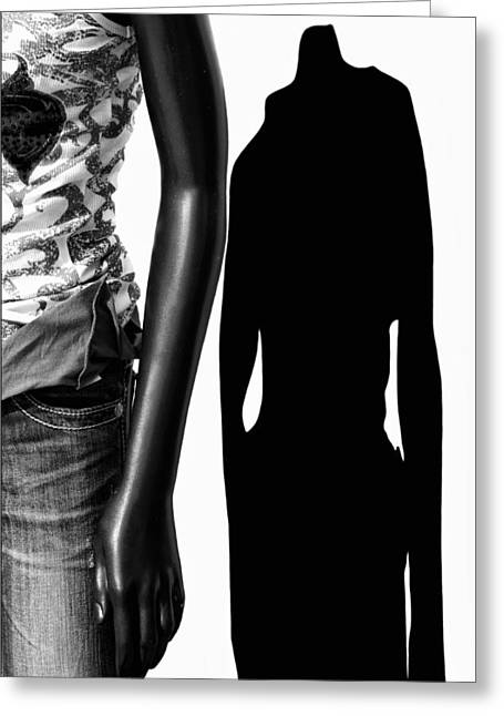 No Sense Of Style - Mannequin Greeting Card by Nikolyn McDonald