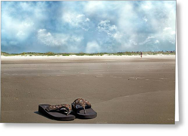 No Shoes Required Greeting Card by Betsy Knapp