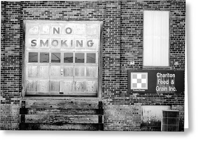 Jame Hayes Photographs Greeting Cards - No Smoking Greeting Card by Jame Hayes