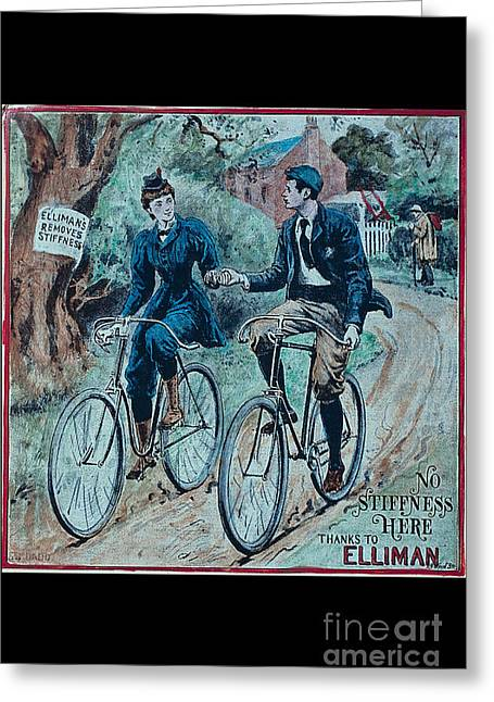 Stiffness Greeting Cards - No stiffness here thanks to Elliman vintage bicycle poster Greeting Card by R Muirhead Art