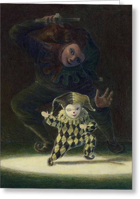 Jesters Puppet Greeting Cards - No Strings Attached Greeting Card by Leonard Filgate
