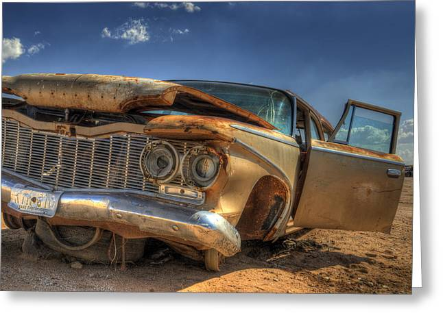 Wrecked Cars Greeting Cards - No Sunlight Greeting Card by Wayne Stadler