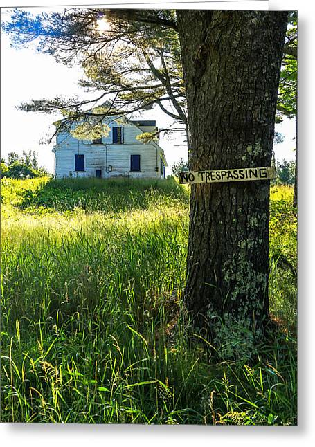 No Trespassing Greeting Card by Laurie Breton