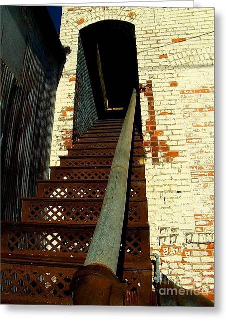 Stair-rail Greeting Cards - No Way Out Greeting Card by The Stone Age