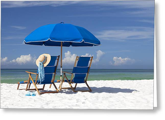 Resort Photographs Greeting Cards - No Worries Greeting Card by Janet Fikar