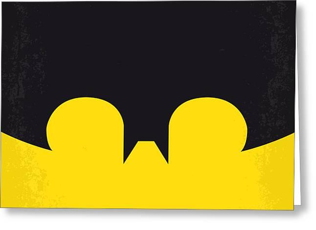 No008 My Batman minimal movie poster Greeting Card by Chungkong Art