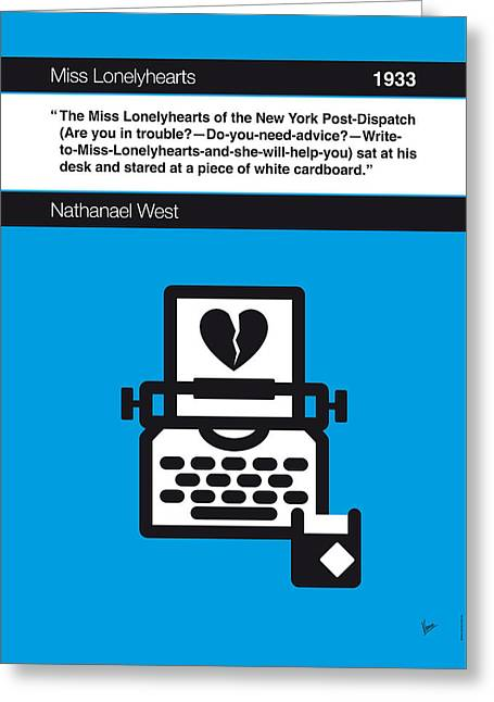 No011-my-miss Lonelyhearts-book-icon-poster Greeting Card by Chungkong Art
