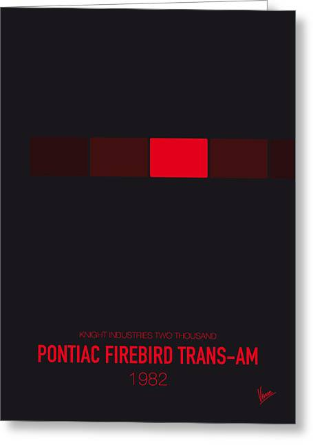 Furious Greeting Cards - No019 My Knight Rider minimal movie car poster Greeting Card by Chungkong Art