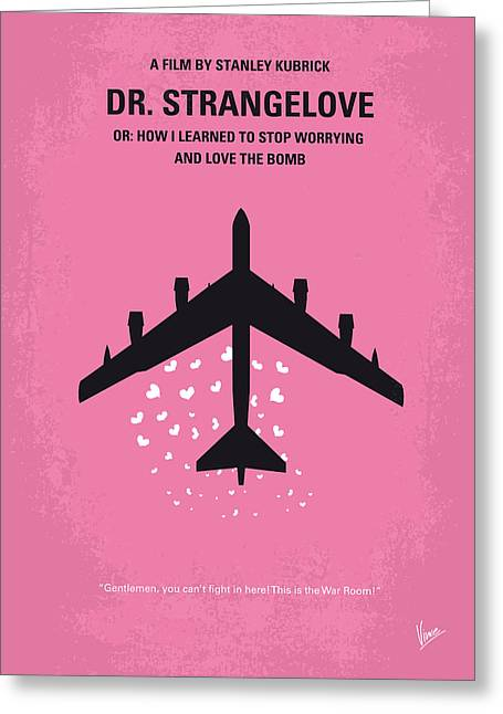 U S Presidents Greeting Cards - No025 My Dr Strangelove minimal movie poster Greeting Card by Chungkong Art