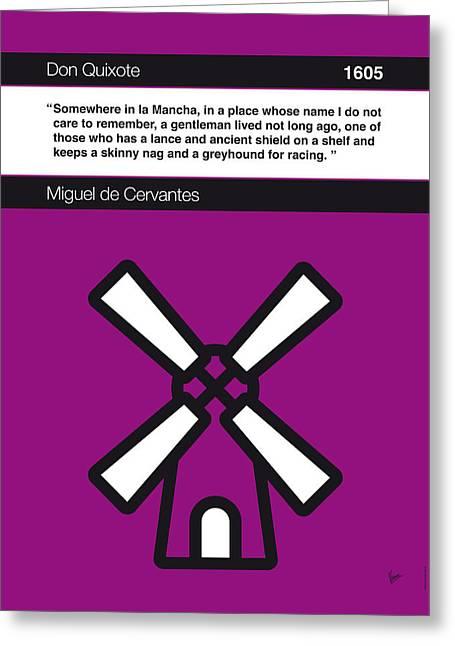 No027-my-don Quixote-book-icon-poster Greeting Card by Chungkong Art