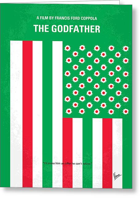 American Flag Art Greeting Cards - No028 My Godfather minimal movie poster Greeting Card by Chungkong Art
