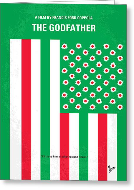 American Flags Greeting Cards - No028 My Godfather minimal movie poster Greeting Card by Chungkong Art