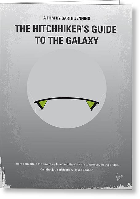 Spaceships Greeting Cards - No035 My Hitchhiker Guide minimal movie poster Greeting Card by Chungkong Art