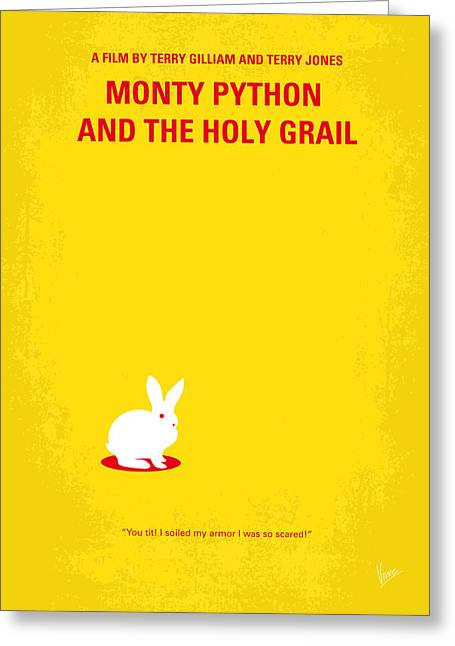 King Greeting Cards - No036 My Monty Python And The Holy Grail minimal movie poster Greeting Card by Chungkong Art