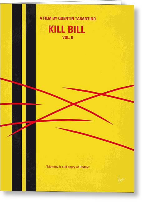 No049 My Kill Bill-part2 Minimal Movie Poster Greeting Card by Chungkong Art