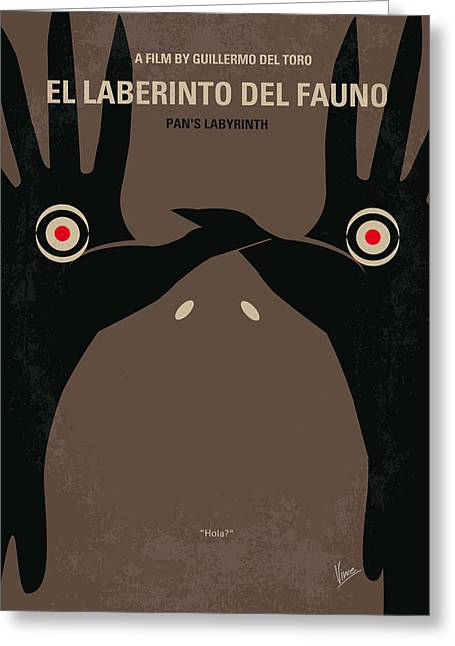 Labyrinth Greeting Cards - No061 My Pans Labyrinth minimal movie poster Greeting Card by Chungkong Art