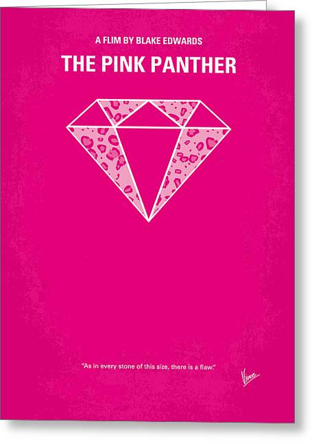 Pink Prints Greeting Cards - No063 My Pink Panther minimal movie poster Greeting Card by Chungkong Art