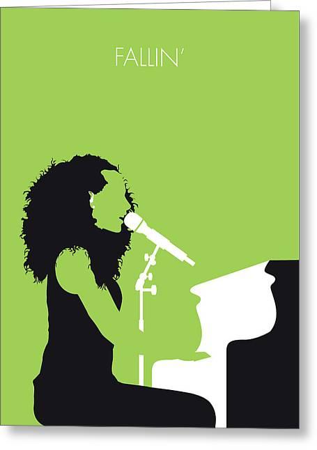 No066 My Alicia Keys Minimal Music Poster Greeting Card by Chungkong Art