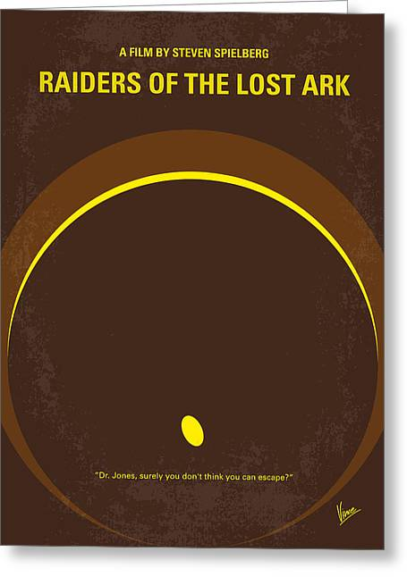 No068 My Raiders Of The Lost Ark Minimal Movie Poster Greeting Card by Chungkong Art