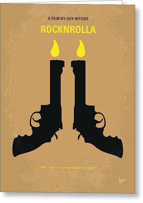 No071 My Rocknrolla Minimal Movie Poster Greeting Card by Chungkong Art