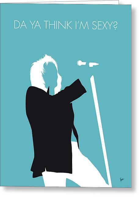 No075 My Rod Stewart Minimal Music Poster Greeting Card by Chungkong Art