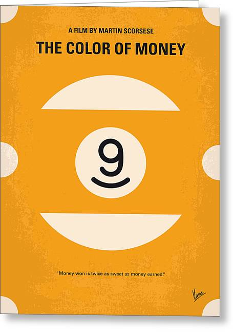 Fast Greeting Cards - No089 My The color of money minimal movie poster Greeting Card by Chungkong Art