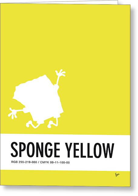 No10 My Minimal Color Code Poster Spongebob Greeting Card by Chungkong Art