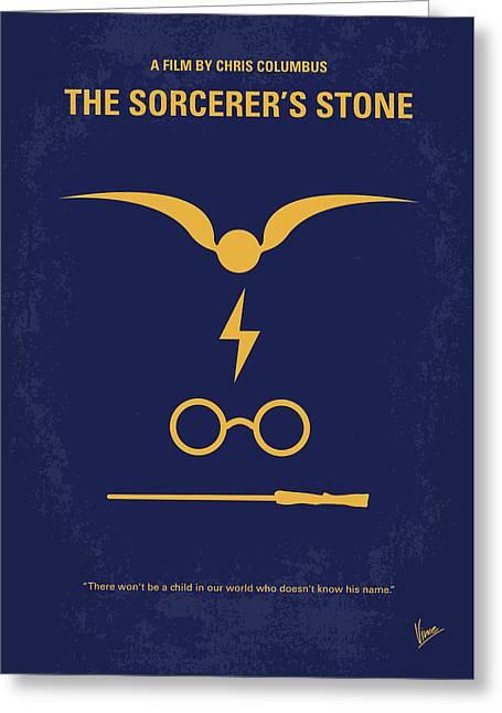 No101-1 My Hp - Sorcerers Stone Minimal Movie Poster Greeting Card by Chungkong Art