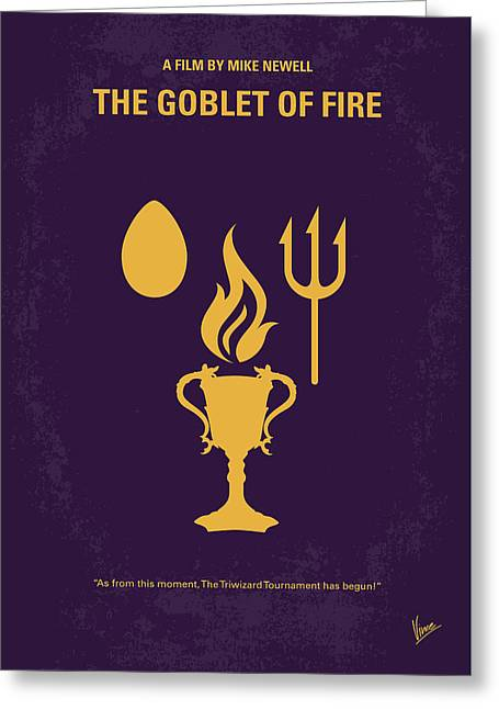 No101-4 My Hp - Goblet Of Fire Minimal Movie Poster Greeting Card by Chungkong Art