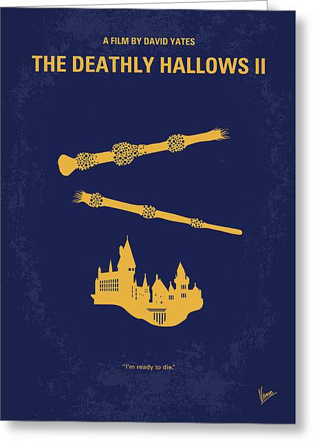 No101-8 My Hp - Deathly Hallows II Minimal Movie Poster Greeting Card by Chungkong Art