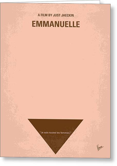 Actions Greeting Cards - No160 My Emmanuelle minimal movie poster Greeting Card by Chungkong Art