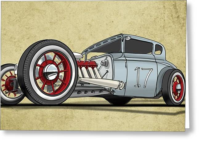 Old Automobile Greeting Cards - No.17 Greeting Card by Jeremy Lacy
