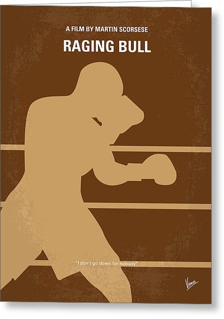 Boxer Greeting Cards - No174 My Raging Bull minimal movie poster Greeting Card by Chungkong Art
