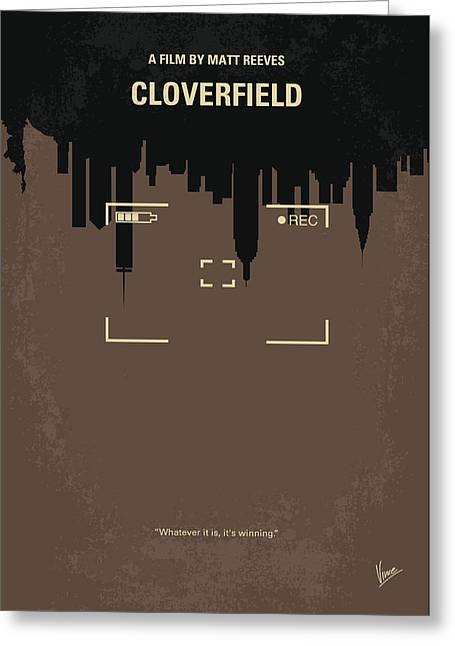 Hand-held Greeting Cards - No203 My Cloverfield minimal movie poster Greeting Card by Chungkong Art