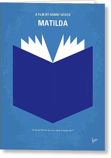 No291 My Matilda Minimal Movie Poster Greeting Card by Chungkong Art
