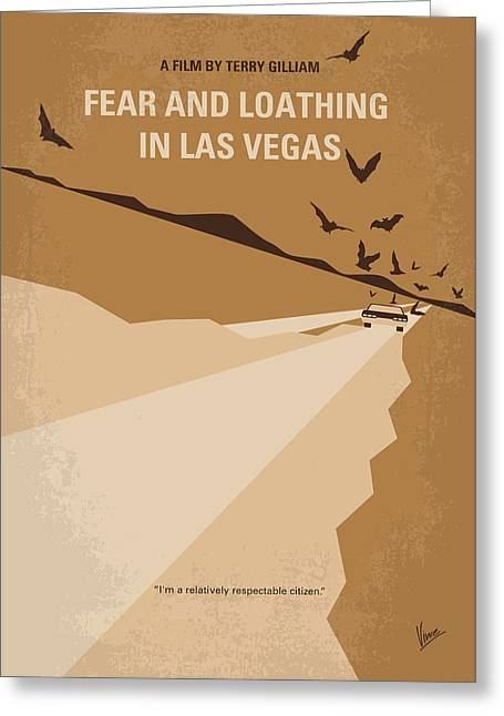 Fear Greeting Cards - No293 My Fear and loathing Las vegas minimal movie poster Greeting Card by Chungkong Art