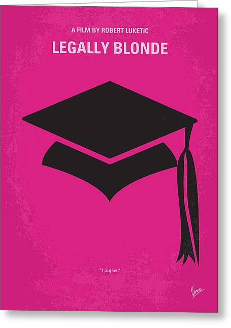 Blonde Greeting Cards - No301 My Legally Blonde minimal movie poster Greeting Card by Chungkong Art