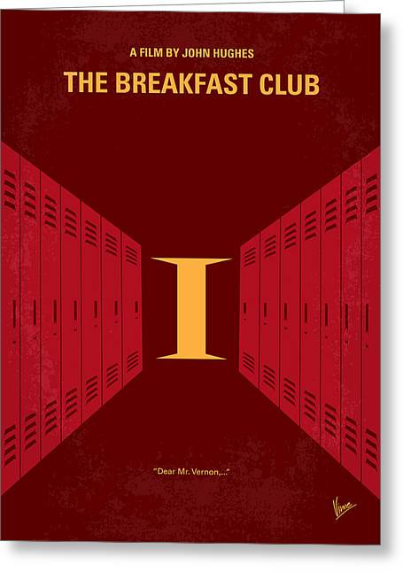 Classic Hollywood Greeting Cards - No309 My The Breakfast Club minimal movie poster Greeting Card by Chungkong Art
