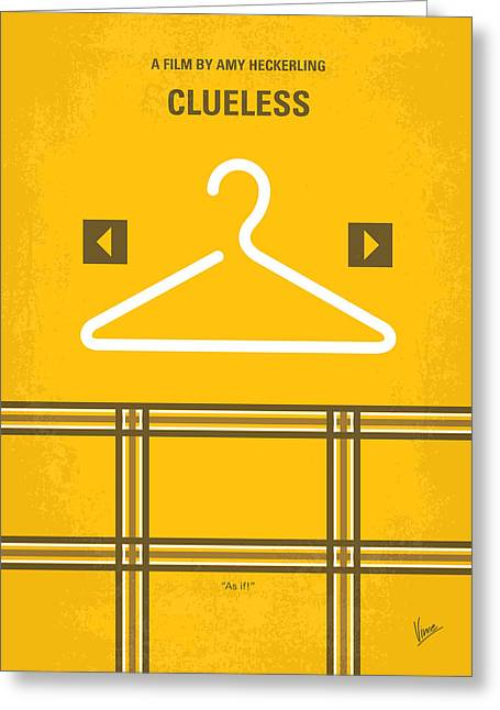 No331 My Clueless Minimal Movie Poster Greeting Card by Chungkong Art