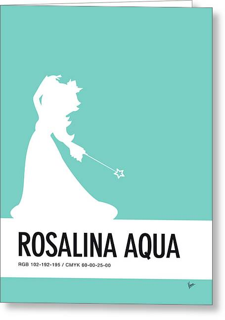 No39 My Minimal Color Code Poster Rosalina Greeting Card by Chungkong Art