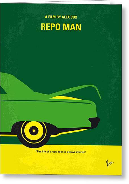 Cargo Greeting Cards - No478 My Repo Man minimal movie poster Greeting Card by Chungkong Art