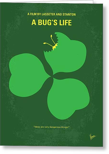 No401 My A Bugs Life Minimal Movie Poster Greeting Card by Chungkong Art