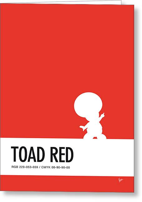 No41 My Minimal Color Code Poster Toad Greeting Card by Chungkong Art
