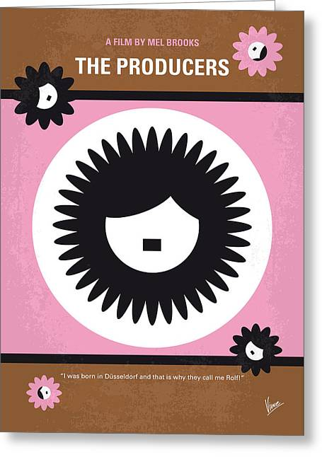 Flops Greeting Cards - No467 My The Producers minimal movie poster Greeting Card by Chungkong Art